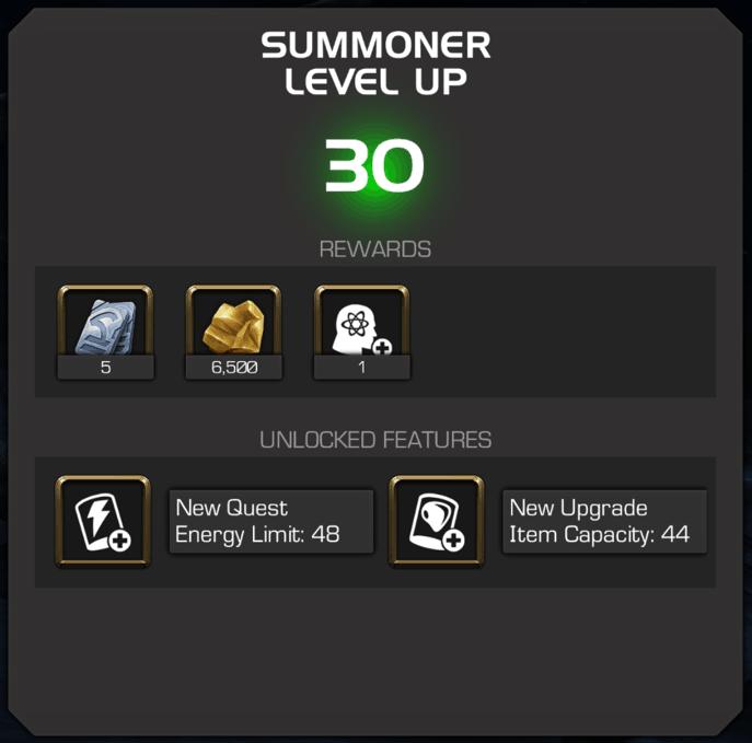 MCOC_Level_Up_Rewards