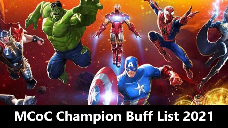 MCoC Champion Buff List 2021